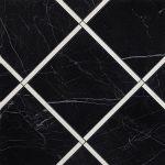 fap ceramiche roma diamond, incroci nero reale carrara inserto 60 x 60 cm RT fényes