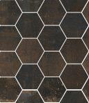 sant'agostino oxidart, black hexagon 27 x 32,5 cm natur