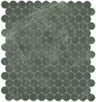 fap ceramiche roma, imperiale round mosaico 29,5 x 32,5 cm matt
