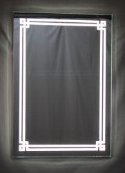 világító tükör LED világítással dupla fonott fénycsíkkal, kapcsolóval