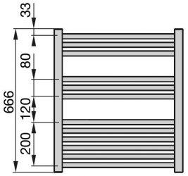 Zehnder Klaro radiátor, elektromos