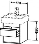 Duravit Ketho, alsószekrény 45 cm széles KT 6635