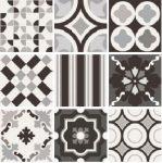 sant'agostino patchwork, black&white mix 20 x 20 cm