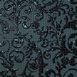 fap ceramiche dark side, damasco black mosaico mix4 60 x 60 cm fényes