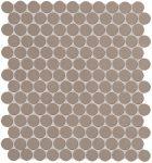 fap ceramiche color now, fango round mosaico 29,5 x 32,5 cm