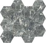 Caesar anima, grey st. laurent esagono 28,5 x 33 cm lucidato