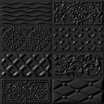 Vives, Mugat-Rivoli Raspail Negro 10 x 20 cm mintás fali csempe