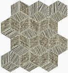 fap ceramice lumina glam, taupe cube mosaico 22,5 x 26 cm