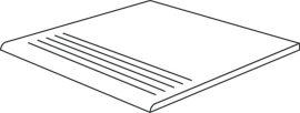 lépcső metal 30x60 cm lappato