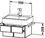 Duravit Vero, mosdó szekrény 55 cm széles VE 6204 furnérozott