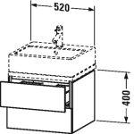 Duravit L-Cube, mosdó szekrény  52 cm széles LC 6820