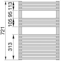 Zehnder Forma Spa radiátor, meleg vizes