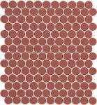 fap ceramiche color now, marsala round mosaico 29,5 x 32,5 cm