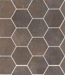 sant'agostino oxidart, iron hexagon 27 x 32,5 cm natur