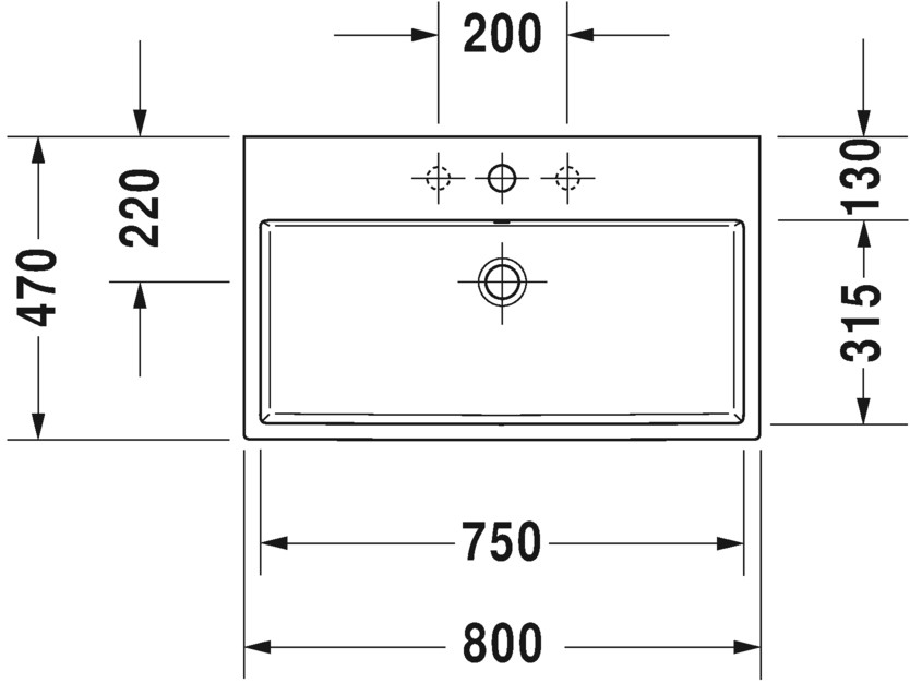 duravit vero air mosd 80 cm f nyes feh r alja csiszolt. Black Bedroom Furniture Sets. Home Design Ideas