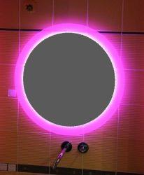 világító tükör színes színváltós LED világítással