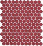 fap ceramiche color now, marsala round mosaico 30,5 x 30,5 cm