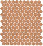 fap ceramiche color now, curcuma round mosaico 29,5 x 32,5 cm