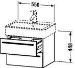Duravit X-Large, mosdó szekrény 55 cm széles XL 6344 magasfényű fehér