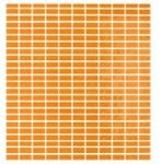 tonalite soleil, orange 27 x 30 cm mosaic