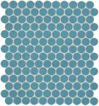 fap ceramiche color now, avio round mosaico 30,5 x 30,5 cm