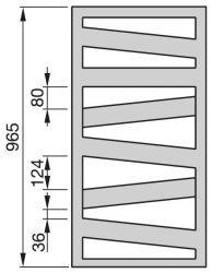 Zehnder Kazeane radiátor, meleg vizes