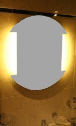 világító kerek tükör 2 fénycsíkkal kétoldalt
