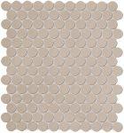 fap ceramiche color now, tortora round mosaico 29,5 x 32,5 cm