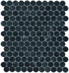 fap ceramiche roma, grafite round mosaico 29,5 x 32,5 cm matt