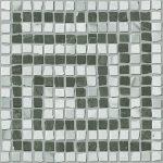 f. ceramiche roma, angolo greca statuario grafite mosaico 20 x 20 cm lux