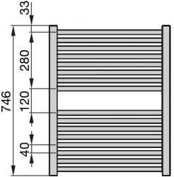 Zehnder Klaro radiátor, meleg vizes