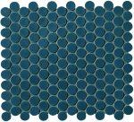 fap ceramiche boston, petrolio mosaico round 29,5 x 32,5 cm