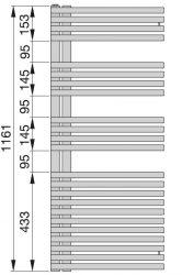 Zehnder Forma Asym radiátor, elektromos