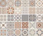 sant'agostino newdeco, patchwork 60 x 60 cm natur