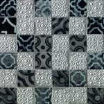 fap ceramiche creta, maiolica grey mosaico 30,5 x 30,5 cm