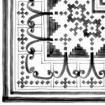 Vives, Vodevil Bellaria-3 Sombra 20 x 20 cm mintás csempe