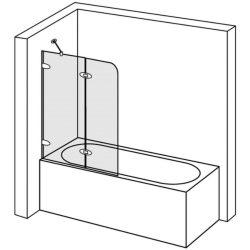 duscholux collection 2 k dparav n 100 cm k t r szes. Black Bedroom Furniture Sets. Home Design Ideas