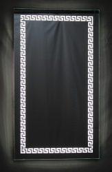 világító tükör LED világítással görög mintával