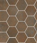 sant'agostino oxidart, copper hexagon 27 x 32,5 cm natur